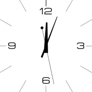 analog clock square